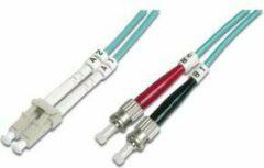 Digitus DK-2531-10/3 Glasvezel Aansluitkabel [1x LC-stekker - 1x ST-stekker] 50/125 µ Multimode OM3 10.00 m
