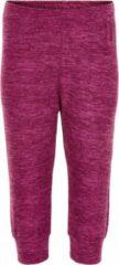 Color Kids - Fleece broek voor baby's - Melange - Donkerrood - maat 80cm