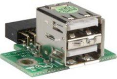 Delock USB 2.0 Adapter [2x USB 2.0 bus A - 1x USB 2.0 bus intern 10-polig] 1527287