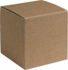 Naturelkleurige Papyrasse Geschenkdoosjes vierkant-kubus karton 09x09x09cm NATUREL (100 stuks)