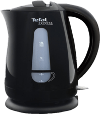 Afbeelding van Tefal waterkoker, zwart, 1.5L, verm 2200W, snoerloos, waterniveau ind