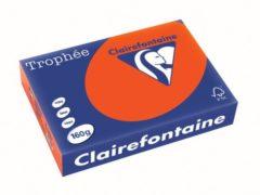 Rode Riem 250 vellen gekleurd papier A4 160 g Clairefontaine Trophée levendige kleuren kardinaalrood
