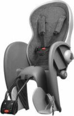 Zilveren Polisport Wallaby Evolution Deluxe - Fietsstoeltje Achter - Donkergrijs