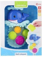 Blauwe Toi Toys BV BABY BAD SPEELSET MET ZUIGNAP