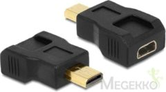 Zwarte DeLOCK 65502 HDMI micro-D HDMI micro-D Zwart kabeladapter/verloopstukje
