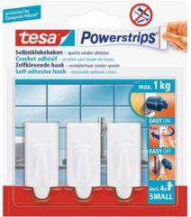 Witte 3x Tesa Powerstrips haken trend small - Klusbenodigdheden - Huishouden - Verwijderbare haken - Opplak haken 3 stuks