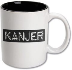 Witte Paper dreams Black&White Mugs - Kanjer-White