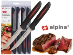 Rode Alpina Kitchen & Home Alpina Steakmessen - 12 Delig - RVS