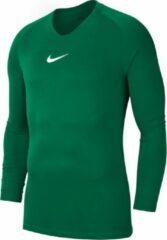Donkergroene Nike Dry Park First Layer Longsleeve Thermoshirt - Maat 116 - Unisex - donker groen