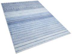 Beliani Vloerkleed lichtblauw 160 x 230 cm laagpolig YARDERE