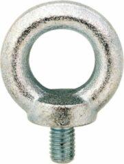Zilveren Dulimex DX Oogbout M16 Staal Verzinkt