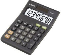Bureaurekenmachine Casio MS-8B Zwart Aantal displayposities: 8 werkt op zonne-energie, werkt op batterijen (b x h x d) 103 x 29 x 147 mm