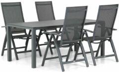 Antraciet-grijze Presto Donato/Pallazo 180 cm dining tuinset 5-delig