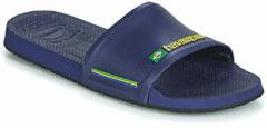 Marineblauwe Havaianas Brasil Slide Slippers - Unisex donker blauw/geel - Maat 39/40