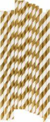 My Little Day - Rietjes - Goud strepen - 25 stuks - 19cm
