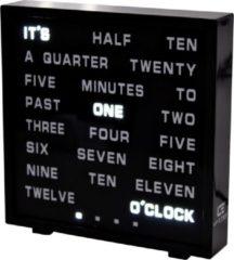 Zwarte United Entertainment - LED Word Clock - Engels 17x16,5 cm