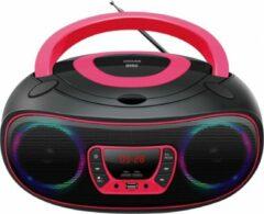 Denver TCL-212BT Radio/CD-speler FM AUX, CD, USB, Bluetooth Sfeerverlichting Roze