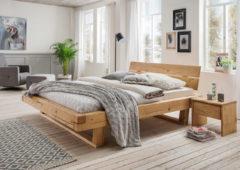 Premium collection by Home affaire Schlafzimmer-Set »Ultima« (3-tlg.), Massivholz in Balken-Optik
