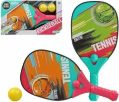Merkloos / Sans marque Pickleball tennis set met balletjes voor 2 personen - Buitenspeelgoed - Sportbenodigdheden - Sport/sporten - Sportief speelgoed - Pickleball/tennis set voor volwassenen