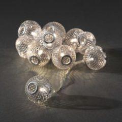 Motieflichtketting met batterijen Bollen Binnen werkt op batterijen 10 LED Warm-wit Verlichte lengte: 0.9 m Konstsmide 3145-303