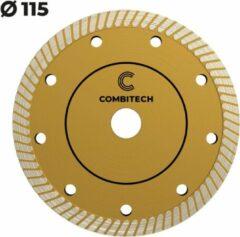 Gouden Combitech Tools Diamantschijf voor tegels met dunne zaagsnede - Diameter 115mm