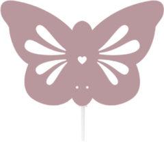 Roommate silhouette lamp butterfly - roze