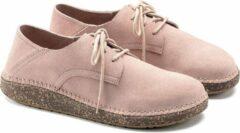 Roze Birkenstock Gary Unisex Veterschoenen Suède Soft Pink Regular-fit Maat 39