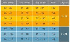 Zwarte Afslankbroek legging Adipotex maat L/XL