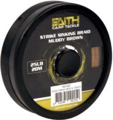 Bruine Faith Strike Sinking Braid - Muddy Brown - 25lb - 20m