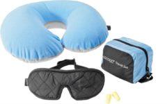 Cocoon Travelset ultralite - incl: nekkussen blauw - oordopjes - eyeshade masker