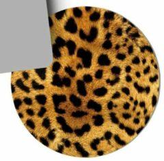 Bruine Moodadventures Muismat Trendy Tijgerprint| Muismat Rond Rubber | Mousepad 20 x 20 cm |