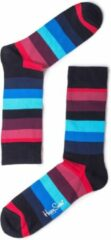 Happy Socks - Stripe Sock - Multifunctionele sokken maat 36-40, zwart/blauw