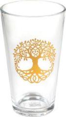 Goudkleurige Yogi & Yogini Drinkglas Levensboom – Tree of Life (480 ml)