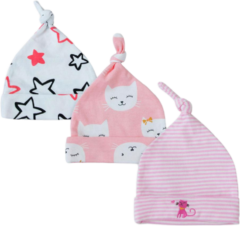 Babymuts set – poes roze
