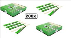 Bruine Biodore 200x Chopstick set Bamboe 23cm