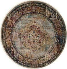 Impression Rugs Picasso Keshan Vintage Rond Vloerkleed Multi / Beige Laagpolig - 200 CM ROND