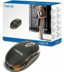 LogiLink Mini Mouse WiFi-muis USB Optisch Verlicht Zwart