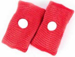 ProductGoods 2 Paar Anti Wagenziek Bandjes - Anti Misselijkheid Band - Anti Misselijkheid Band - Anti Stoom Armband - Anti Misselijkheid Armband - Kleur Rood
