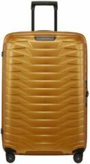 Gouden Samsonite Proxis Spinner 75 honey gold Harde Koffer