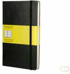 Moleskine notitieboek, ft 13 x 21 cm, geruit, harde cover, 192 bladzijden, zwart