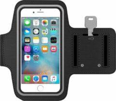 MMOBIEL Sport / Hardloop Armband (ZWART) voor iPhone SE / 5S / 5C / 5 / 4S / 4 / 3GS - Spatwatervrij, Reflecterend, Neopreen, Comfortabel, Verstelbaar, Koptelefoon Aansluitruimte en Sleutelhouder
