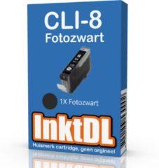 Zwarte INKTDL inktcartridge voor Canon | CLI-8 Photoblack