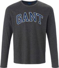 T-shirt van 100% katoen Van GANT grijs