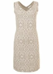 Witte Tramontana Dress Jacquard V-neck S/l