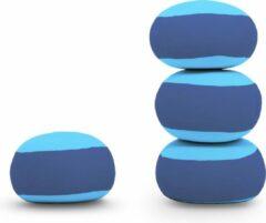 Terapy Meditatie Poef Ringo Blauw en Turquoise