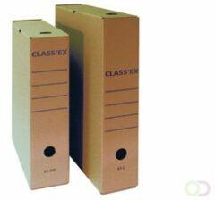 """Bruine """"Class'ex archiefdoos,voor A4, binnenft: 34,5 x 25,1 cm, 50 stuk"""""""