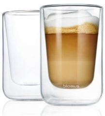 BLOMUS Dubbelwandig glas NERO cappucino (set/4 stuks)