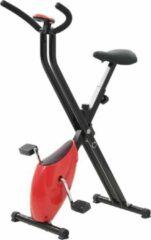 VidaXL Hometrainer X-bike bandweerstand rood