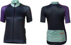 XLC - Fietsshirt Race Korte Mouw - Dames - Blauw/Paars - Maat XL