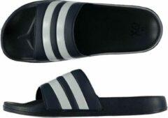 XQ Footwear QX Heren Badslipper / Poolslider Blauw Wit